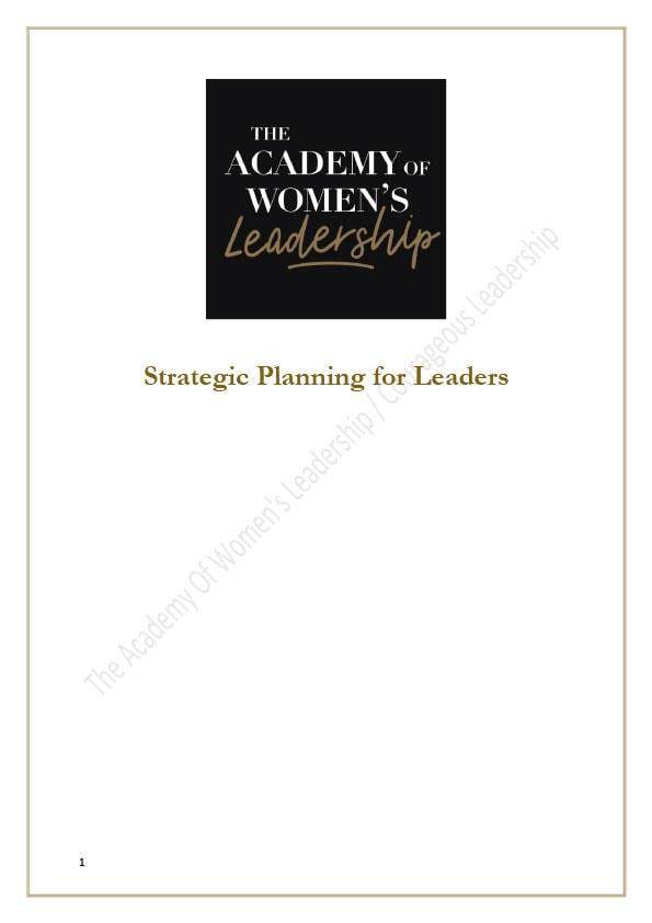 Strategic planning for leaders gift PDF